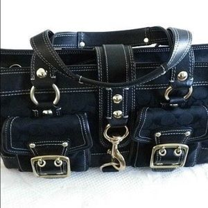 Coach Satchel Black with gold hardware